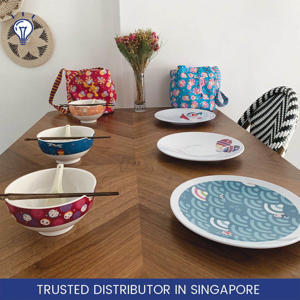 50% Off Doraemon 8pc Set / We Donate $10for Every Set Purchased / 100% Melamine / Dinnerware / Bowls And Plates / Festive Bags.