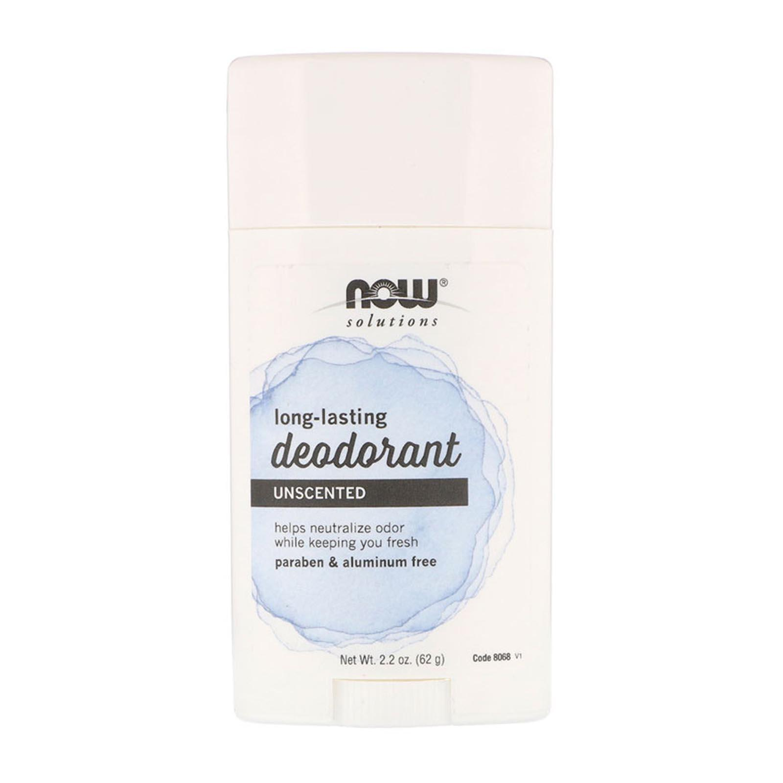 Now Foods Long Lasting Deodorant Unscented 2.2 Oz