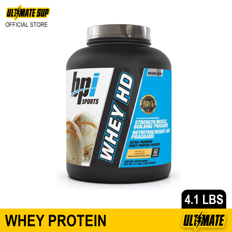 Buy BPI Sports Whey HD Ultra Premium Whey Protein Powder, Recover & Muscle Growth Protein Shake, 4.1lbs Singapore