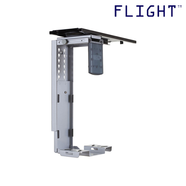 CPU Holder, Silver, Max Loading 12kg, Home Office Ergonomics, Office Furniture, 3 Years Warranty - CP-400 - Flight