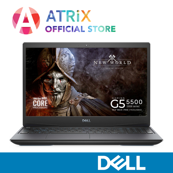 【Express Delivery】2020 Dell Gaming G5 5500 | GeForce RTX2060 6GB GDDR6 | 15.6inch 144Hz 300nits | i7-10750H | 16GB RAM | 1TB PCIe SSD | WiFi 6 AX | Win 10 | 2Yrs Dell Onsite | New Dell G5 5500