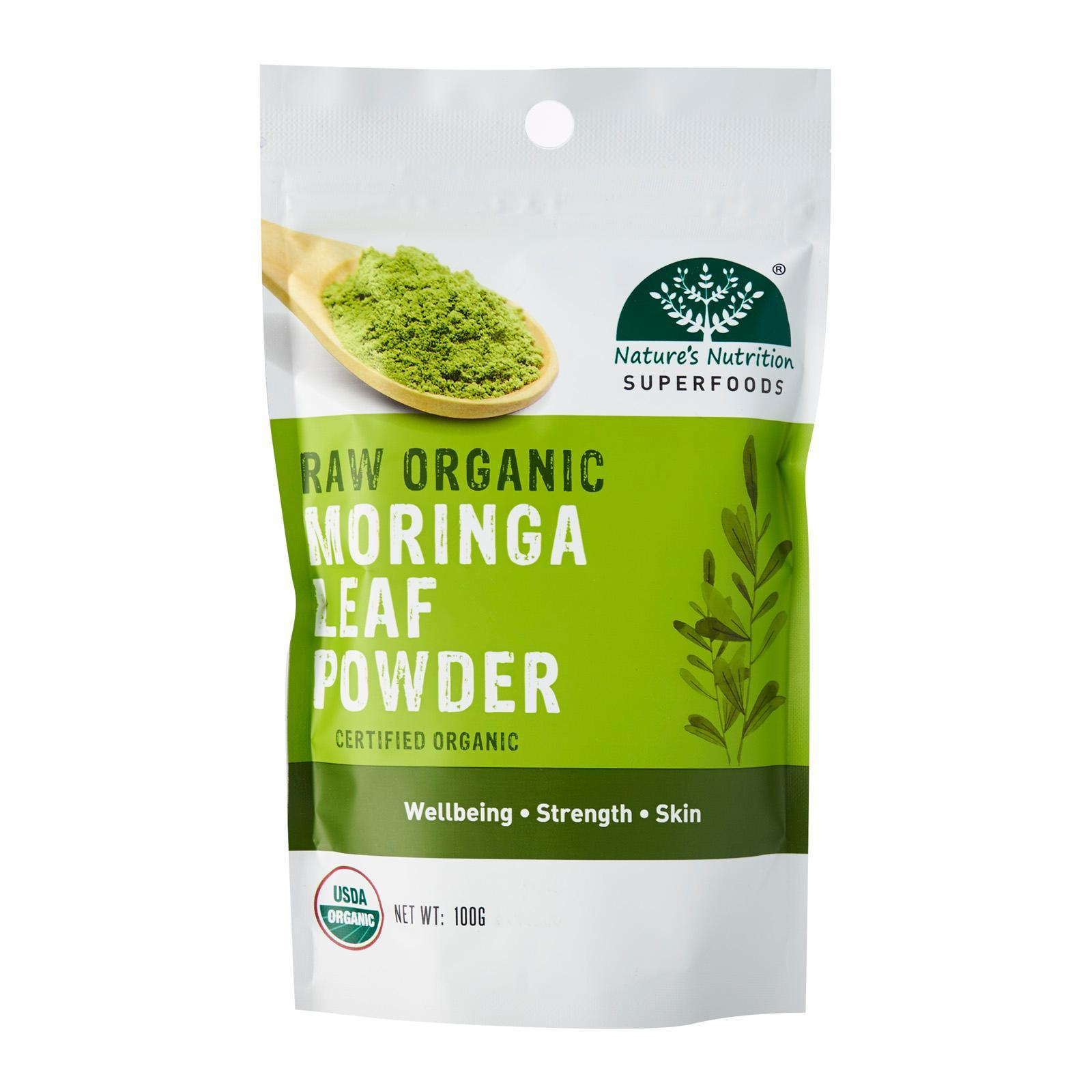 Nature's Nutrition Raw Organic Moringa Leaf Powder