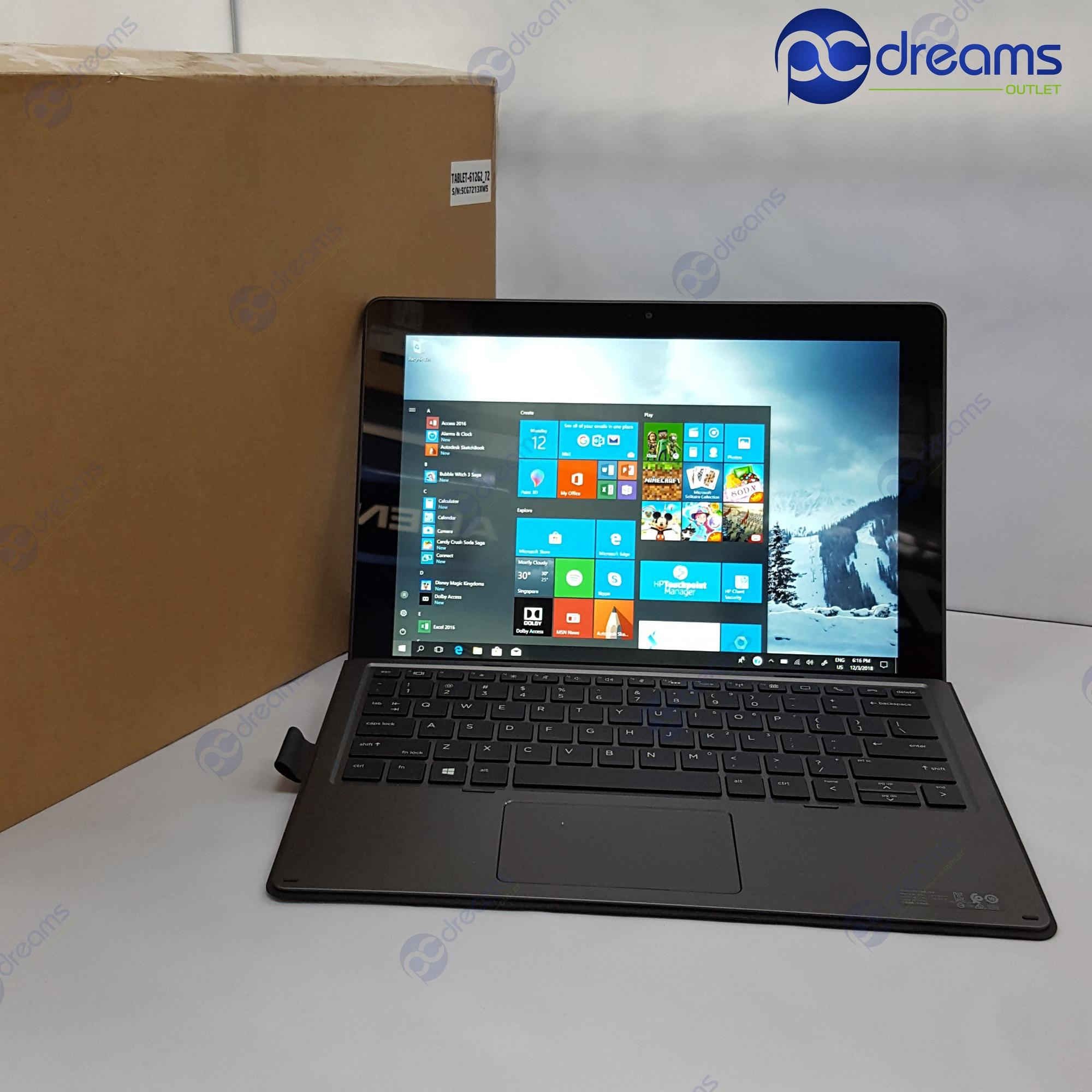 HP PRO X2 612 G2 with travel keyboard (Y1F96AV) i7-7Y75/8GB/512GB PCIe SSD [Premium Refreshed]