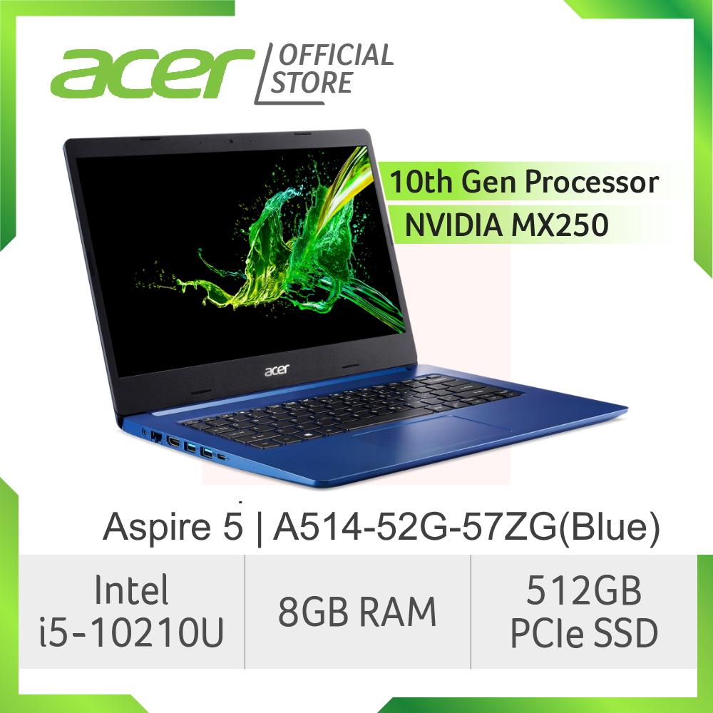 Acer Aspire 5 A514-52G-57ZG (Blue) NEW laptop with LATEST 10th gen Intel i5-10210U processor