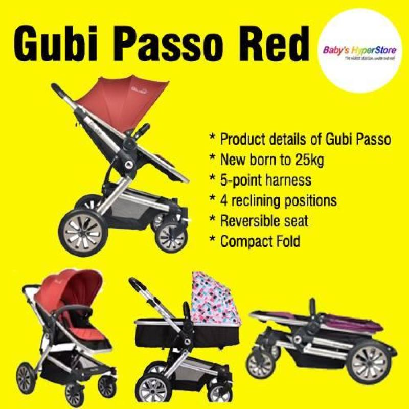 Gubi Passo ★ New born to 25kg ★ 5-point harness ★ 4 reclining positions ★ Reversible seat ★ Compact Fold Singapore