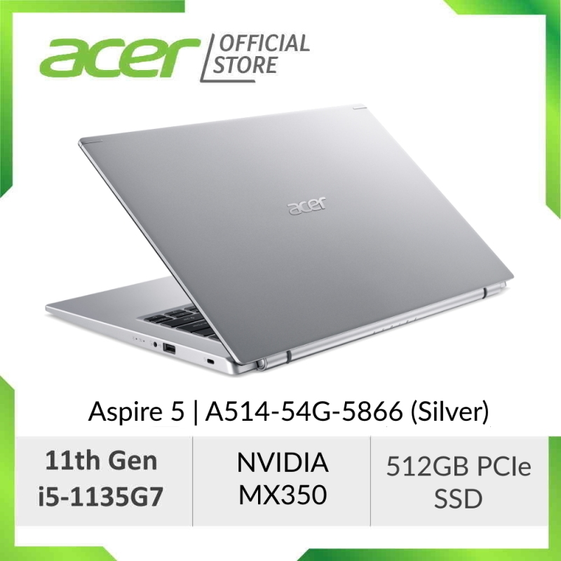 [NEW MODEL] Acer Aspire 5 A514-54G-5855/5866 (Blue/Silver) - 14 FHD IPS Laptop with Latest 11th Gen i5-1135G7 Processor and NVIDIA MX350 Graphic