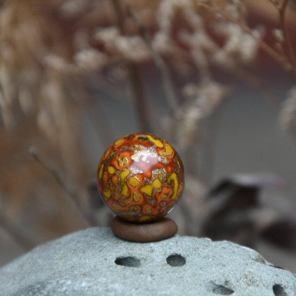 Chinese Lacquer Beads Single Bead Paint Beads Loose Beads 15 mmdiy Mobile Phone Pendant Pendant Lacquer Buddhist Prayer Bead Bracelets