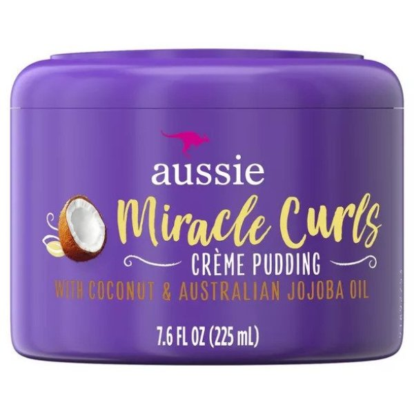 Buy Aussie Miracle Curls Leave-In Cream Pudding with Coconut & Australian Jojoba Oil - 225ML Singapore