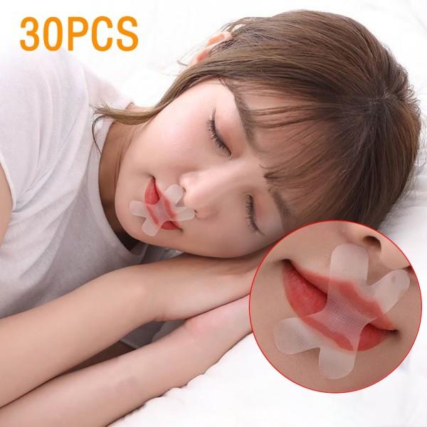 Dải ngủ Băng Miệng nhẹ nhàng để thở mũi tốt hơn thở ngáy ngay lập tức