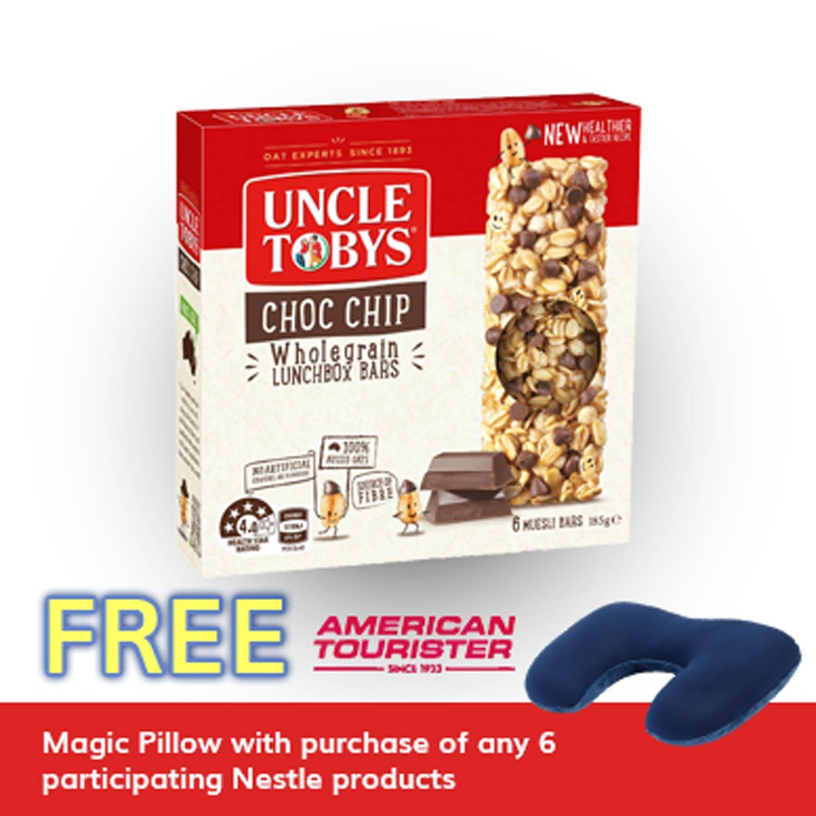 Uncle Tobys Chewy Chocolate Chip Muesli Bar 185g By Redmart.