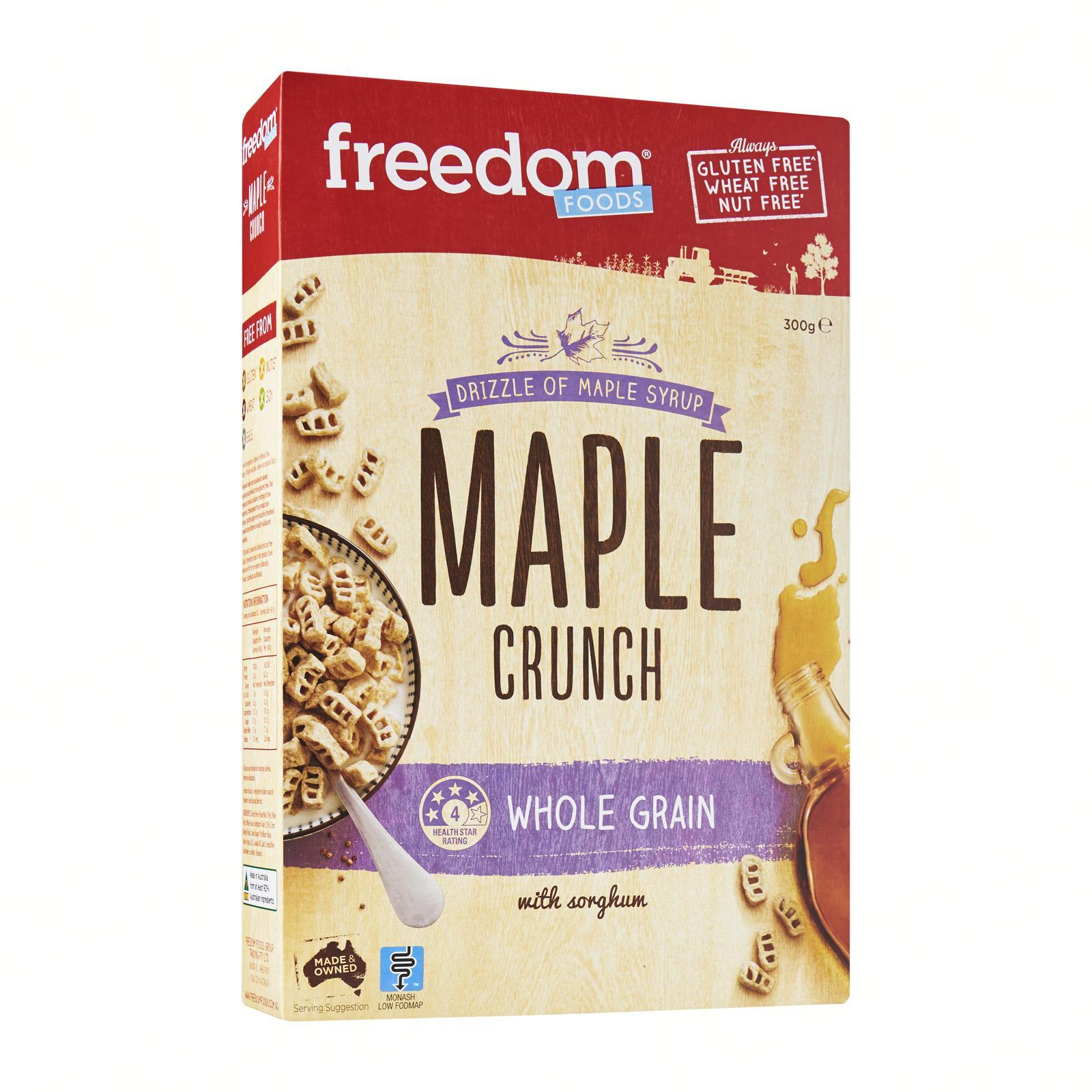 Freedom Foods Maple Crunch By Redmart.