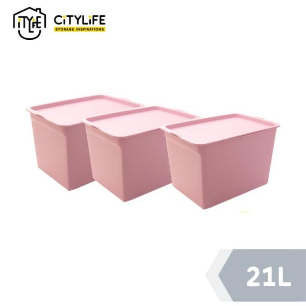 [Bundle of 3] Citylife - Storage Container 21L