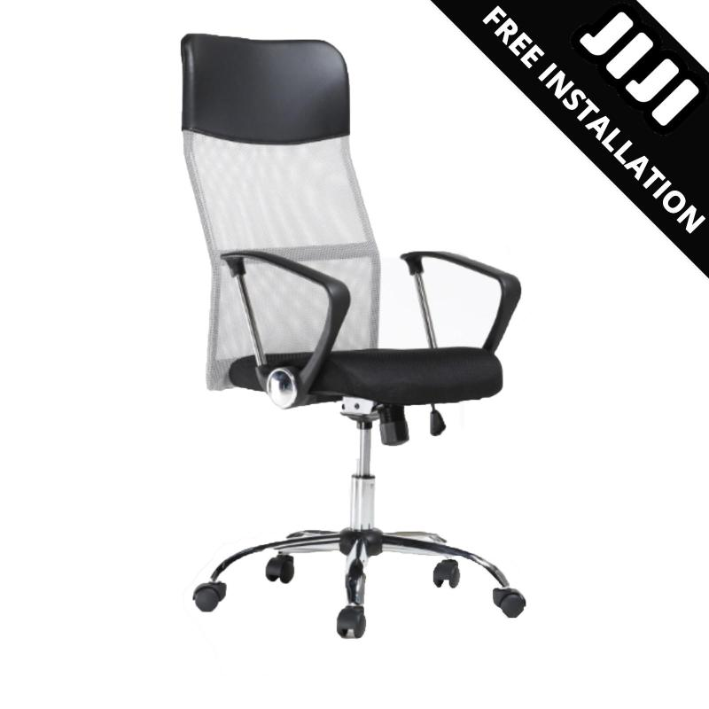 JIJI Office Chair Secretary Chair (Free Installation) - Office chairs /Study chair/Gaming chair/Ergonomic/ Free 12 Months Warranty (SG) Singapore