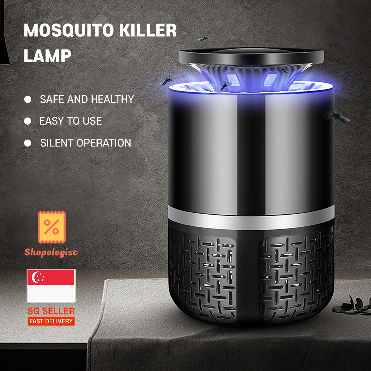 Mosquito Killer Lamp USB Powered with 2 Pin Plug Adaptor Photocatalysis Technology Safe and Healthy Easy to Clean design