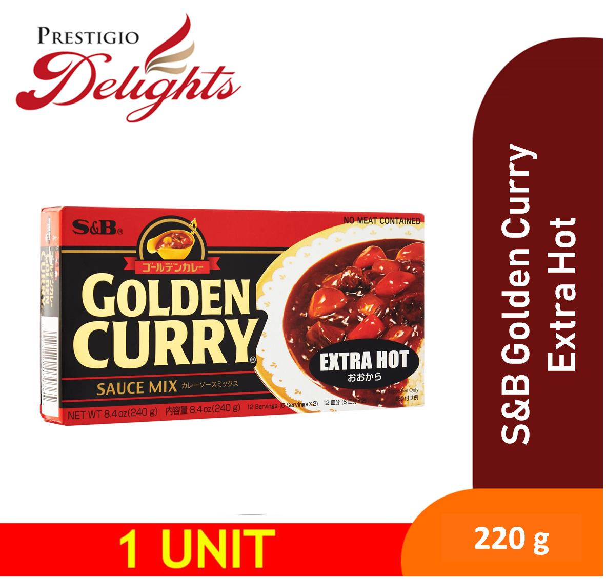 S&b Golden Curry Extra Hot Instant Curry 220g By Prestigio Delights.