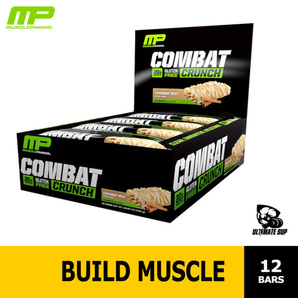Buy MusclePharm Combat Crunch Protein Bar, Various Flavors, 12 bars, 63g each Singapore