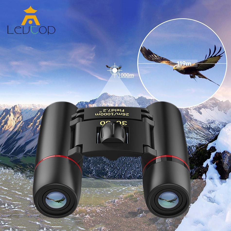 Levtop Mini Folding Binoculars, 30 X 60 Telescope Lens Small Binoculars Compact For Adults Kids, Mini Binocular For Bird Watching Traveling Sightseeing, Lightweight Pocket Folding Binoculars For Concert Theater Opera.