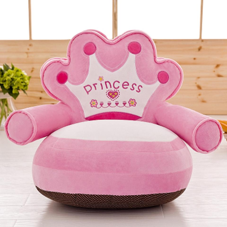 Kids Princess Chair Children Soft Plush Lazy Couch Sofa Seat with PP Cotton Fillings