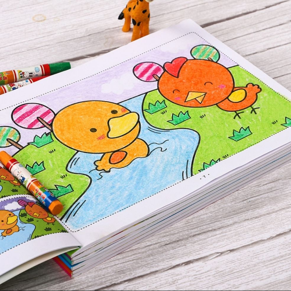 6 colouring books