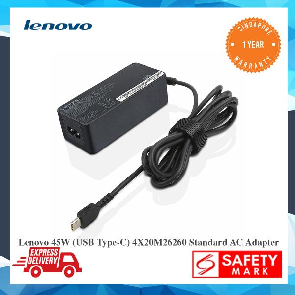 BRAND NEW Original Lenovo 45W (USB Type-C) 4X20M26260 Standard AC Adapter- Singapore Safety Mark