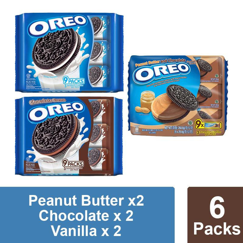 Oreo Assorted Flavour Pack (264.4g X 6) By Mondelez Official Store.