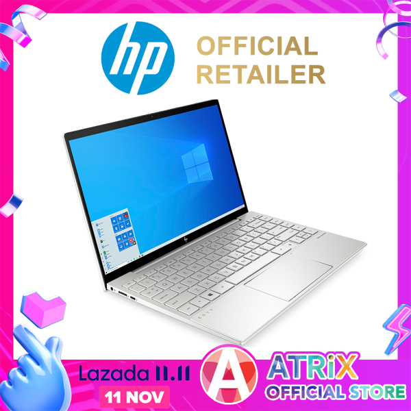 【Express Delivery】New HP ENVY 2020 13.3inch FHD 400nits 100%sRGB 4-side edgeless display | Thunderbolt 3 | Wifi 6 AX | 51Wh battery 1.3kg | i5-1035G4 | 8GB RAM | 512GB SSD | IRIS PLUS graphics | Win10 Home | 2Y HP Warranty