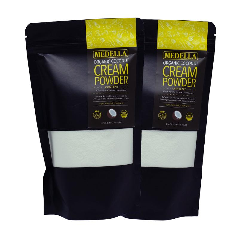 Twin Pack: Medella Organic Coconut Cream Powder (200g) By Medella Singapore.