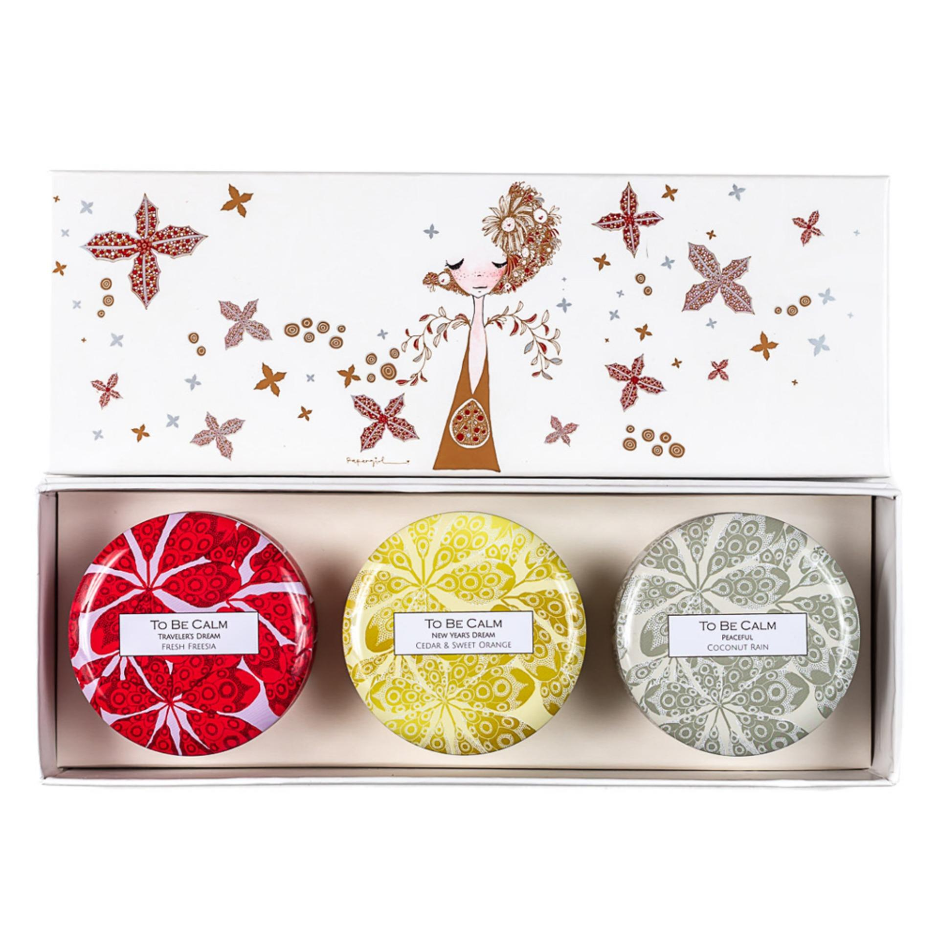 To Be Calm Serenity Christmas - Mini Candle Trio