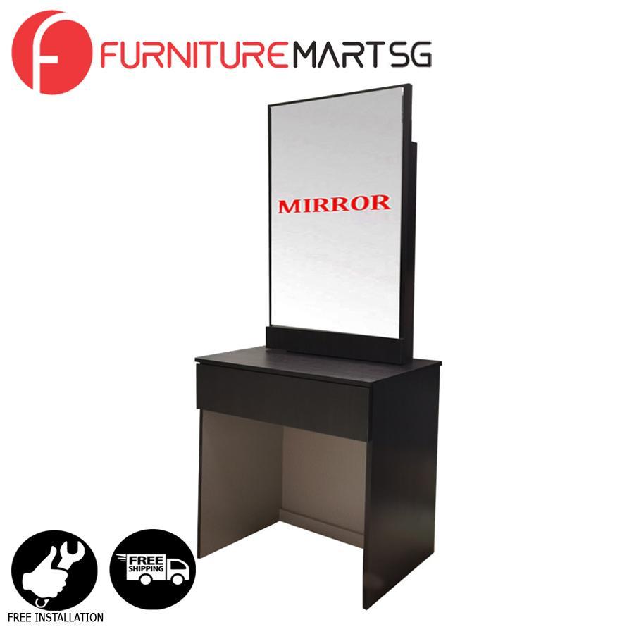 [FurnitureMartSG] Doris Dressing Table - Wenge_FREE DELIVERY + FREE INSTALLATION