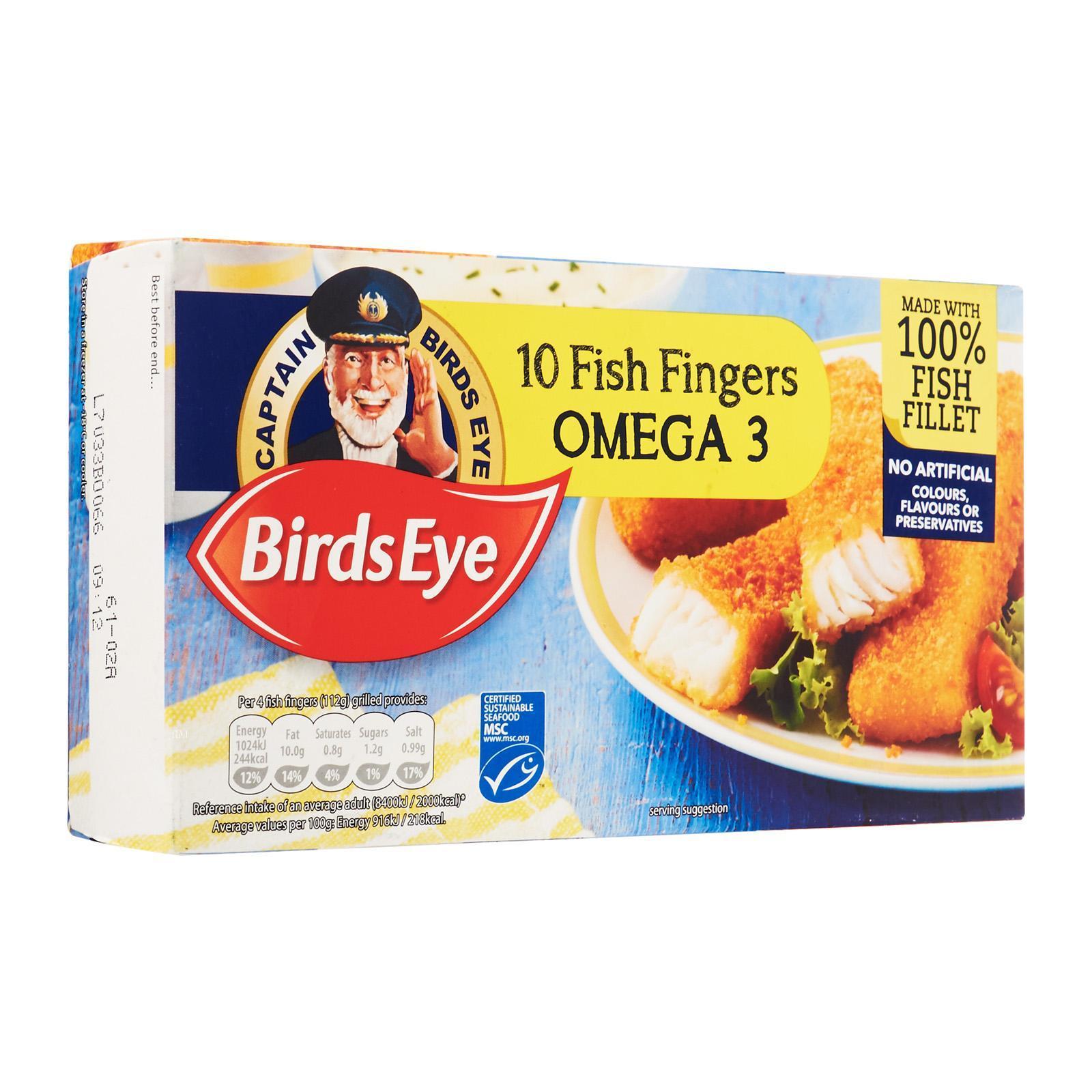 Birds Eye Omega 3 Fish Fingers - Frozen By Redmart.