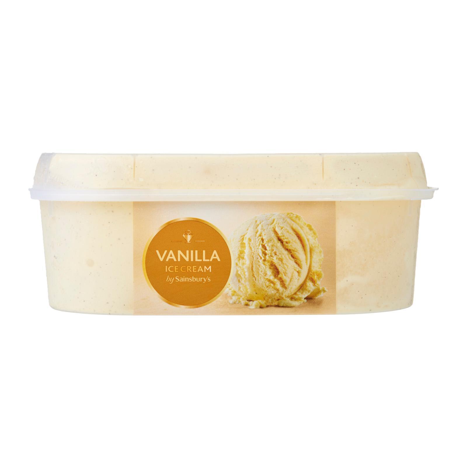 Sainsbury's Vanilla Ice Cream - Frozen