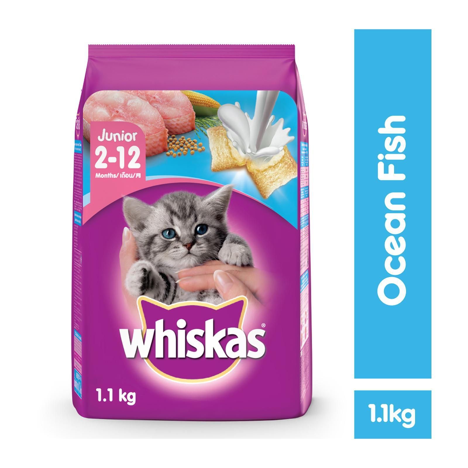 WHISKAS Junior Ocean Fish with Milk Dry Cat Food
