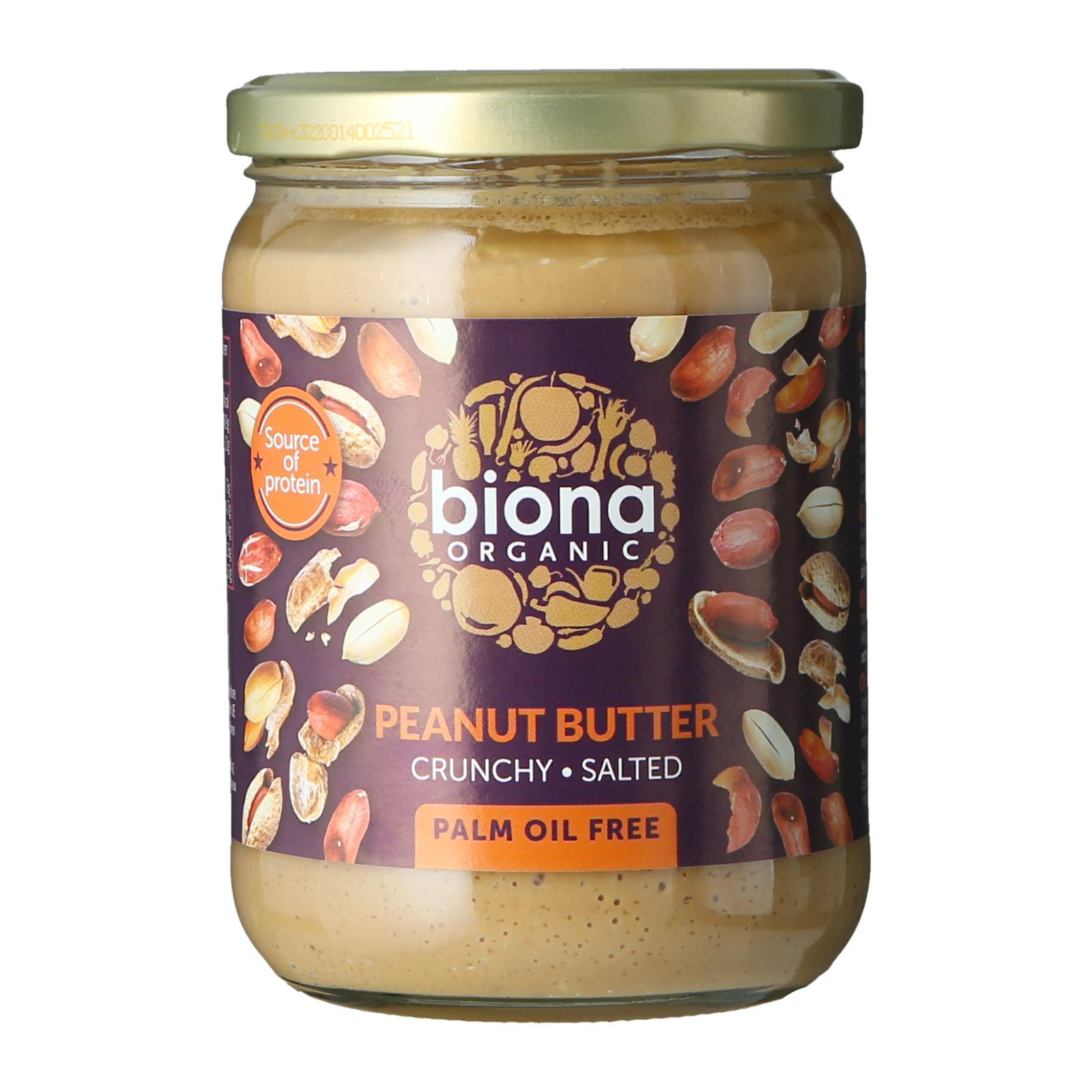 Biona Organic Peanut Butter Crunchy with Sea salt - By Wholesome Harvest