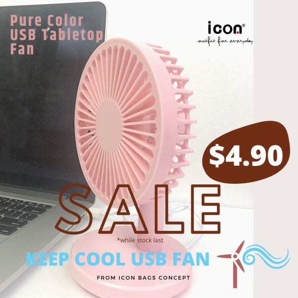 Portable Desk Top USB Rechargeable Cooling Fan