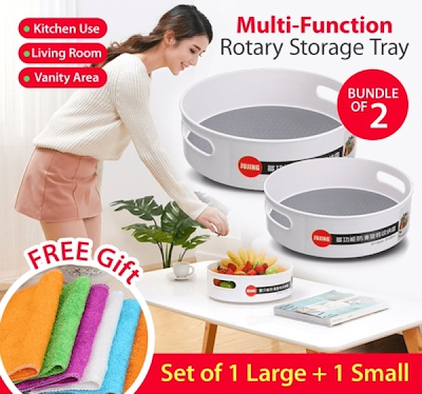 MISSHER Best Multi Function Rotary Storage Tray