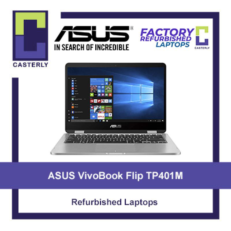 [Refurbished] ASUS VivoBook Flip 14 TP401M 2-in-1 Touchscreen / Intel Celeron N4000 / 4GB RAM / 64 EMMC / Windows 10