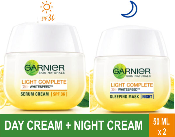 Buy Garnier Light Complete Day Cream + Night Cream Duo 50 ML Singapore