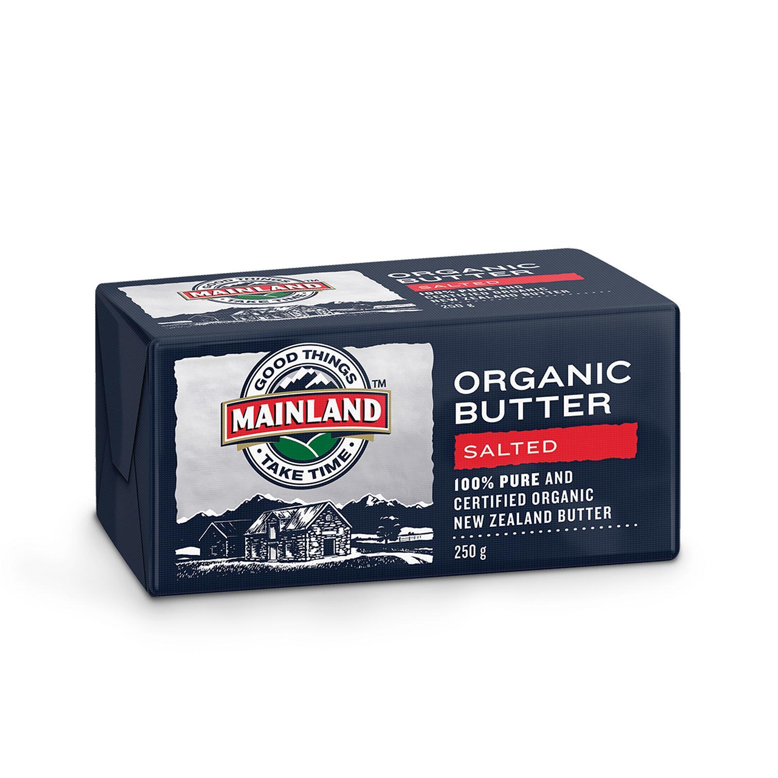 Mainland Salted Organic Butter 250g By Redmart.