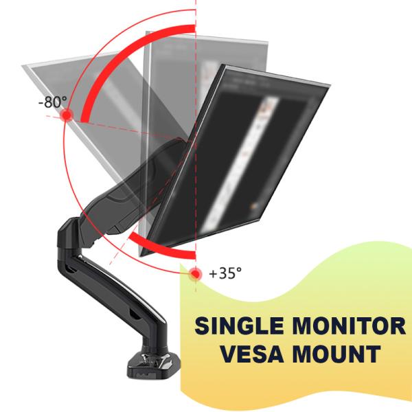 Dual / Single Monitor Stand Bracket VESA Computer Monitor Mount Arm KALOC DS90-2