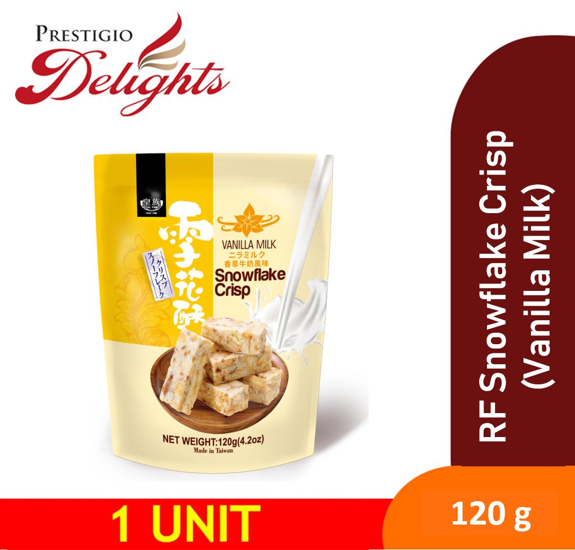 Royal Family Snowflake Crisp (vanilla Milk) 120g 雪花酥-牛奶 By Prestigio Delights.