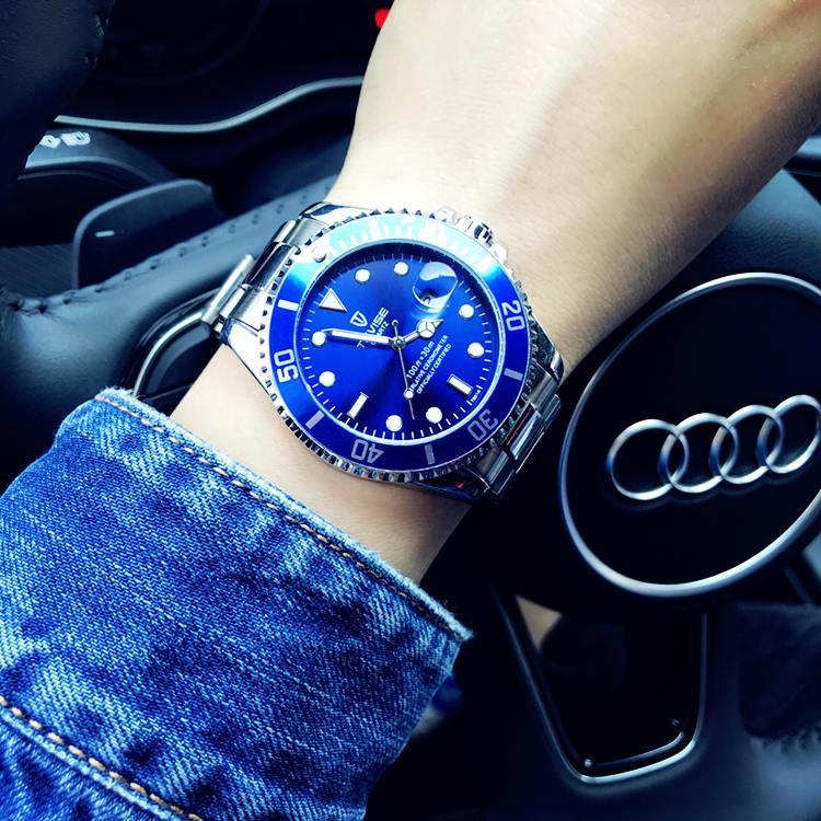 Produk Asli Hijau Kelpie non Sepenuhnya Otomatis Jam tangan mekanik modis suasana Tahan Air Bercahaya Tren jam tangan QUARTZ Pria dan wanita Jam tangan Pasangan Pria