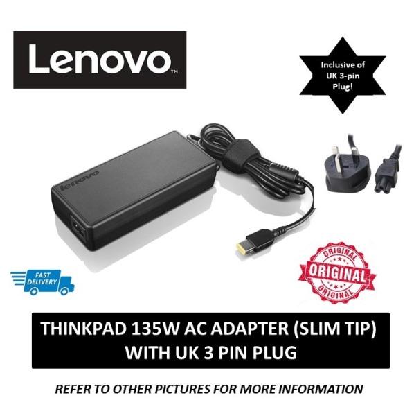 Lenovo 135W AC Adapter with UK 3 pin Plug (Slim Tip)