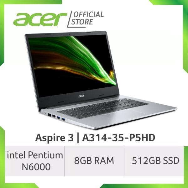 Acer Aspire 3 A314-35-P5HD 14 Inches FHD Laptop | Pentium N6000 | 8GB RAM | 512GB SSD Storage