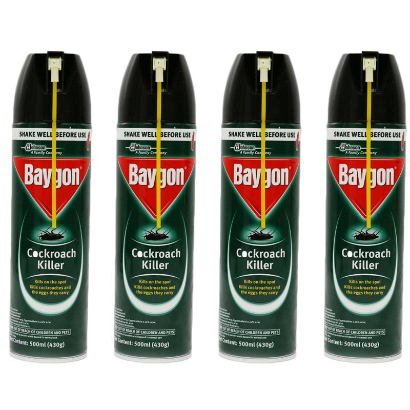 [baygon] Cockroach Killer 500ml X 4 By One Mart.