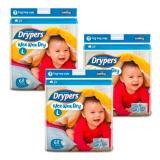 Drypers Wee Wee Dry Mega L68 6Pcs X 3Packs Lower Price