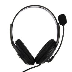 Dual Headphones USB Earphone PC Laptop Gaming Headset with microphone (Black)(Export)