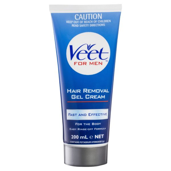 Buy Veet For Men Hair Removal Gel Cream 200ml Expiry Feb 2023 - France Made, 100% Authentic - Easy rinse-off formula - Fast & effective removal of body hair - Suitable for use on back , legs, chest arms & under-arms Singapore