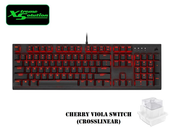 Cherry K60 PRO Mechanical Gaming Keyboard Red LED - CHERRY VIOLA Singapore