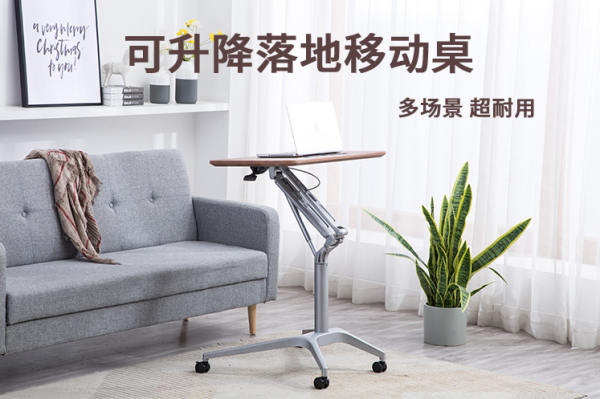 Standing Desk Adjustable Office Desk with Stand Holder and Wheels Office Furniture