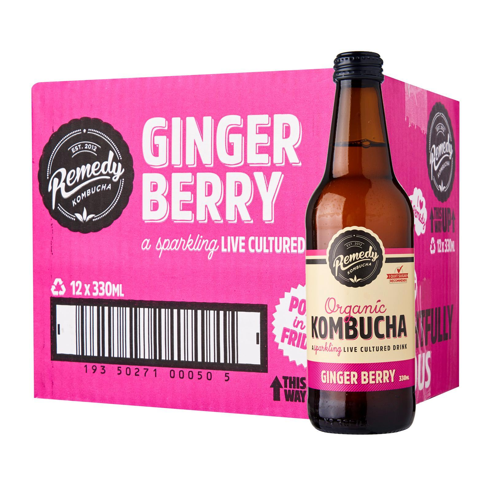 Remedy Organic Kombucha Ginger Berry - Case